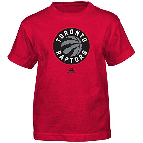 Outerstuff NBA Toronto Raptors Boys Full Primary Logo Short Sleeve Tee, Large (7), Red