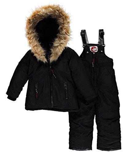canada-weather-gear-little-girls-logo-taping-2-piece-snowsuit-black-6x