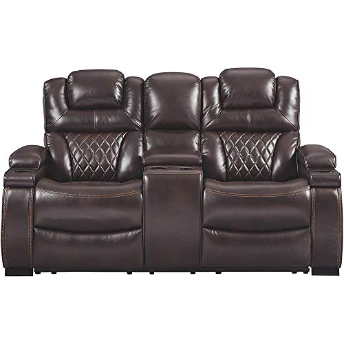Signature Design by Ashley 7540718 Warnerton Power Reclining Loveseat with Console, ()