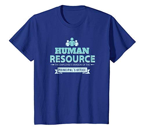 Kids Human Resource Employee's Version Principal's Office T-Shirt 6 Royal Blue