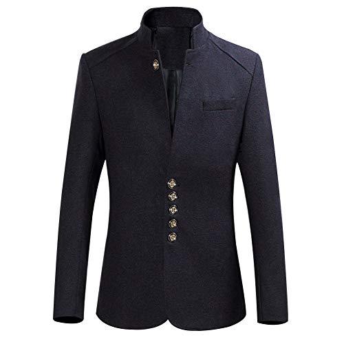 Chaud Vestes Blazer Manteau Homme Hiver Vin De Rouge Business Costume Blousons Slim Fit wgxFqY6pg