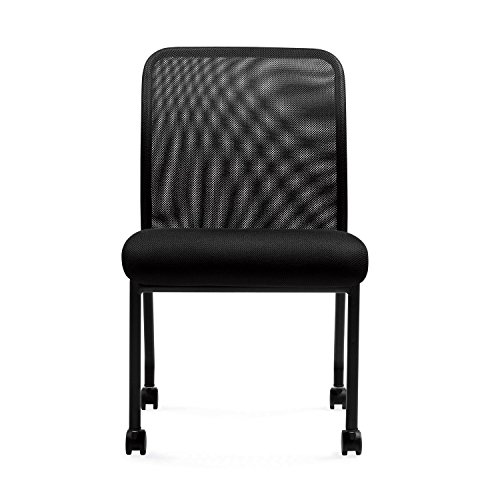 "Mesh Chairs -""11761B"" Armless Office Guest Chairs with Casters"