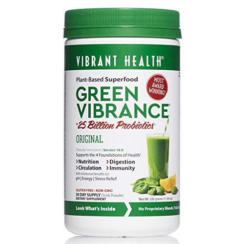 Vibrant Health - Green Vibrance, A Comprehensive, Restorative, Advanced Daily Superfood + Vegan D3, 30 Servings