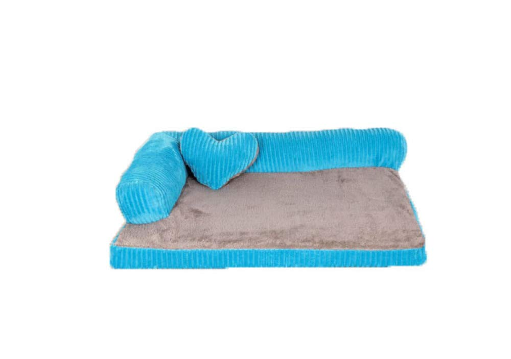 bluee Large bluee Large Dog Bed Four Seasons Universal Deluxe Detachable And Washable Sofa Waterproof Non-slip For Various Pets,bluee-L