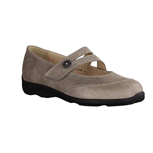 Finn Comfort 02353 537189 - Zapatos de cordones de Piel para mujer beige beige Beige