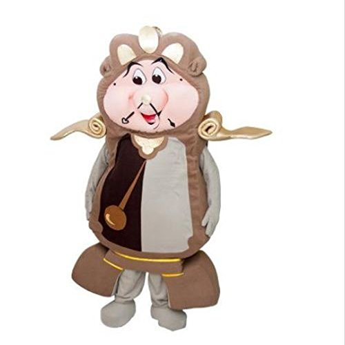 (KF Cogsworth Clock From Beauty and The Beast Mascot Costume Adult Size)