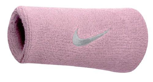 Nike Swoosh Doublewide Wristbands Schweißband perfect pink/White