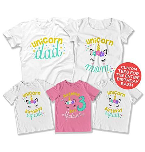 Teepinch Kids Unicorn Shirt 3rd Birthday Bundle 3 Unicorns Matching Family Shirts Three Bday DAT
