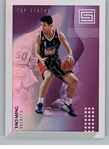 - 2018-19 Status Top Status Basketball #7 Yao Ming Houston Rockets Official NBA Trading Card From Panini