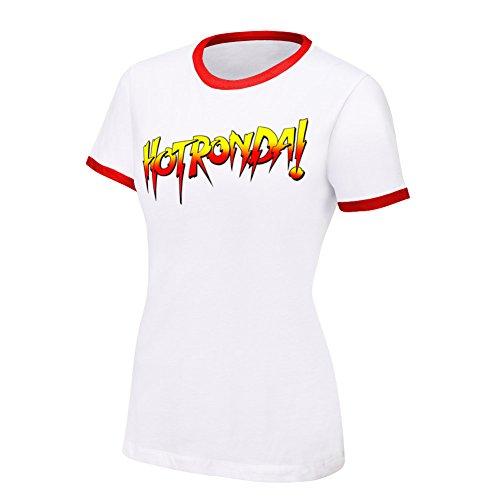 WWE Ronda Rousey Hot Ronda Women's T-Shirt White Small by WWE Authentic Wear