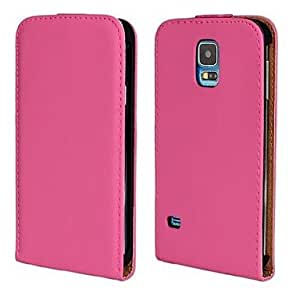 MOFY-Moda PU Leather Case cuerpo completo con la correa y pegatinas para Samsung Galaxy S5