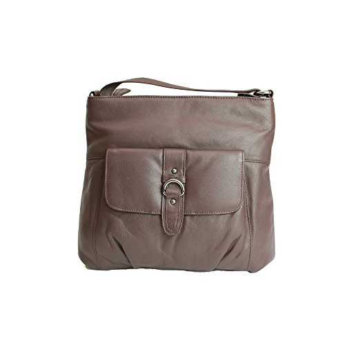 Femme Marron En Cuir Jackie Boucle Counties Avec Sac Eastern Leather tz84fI