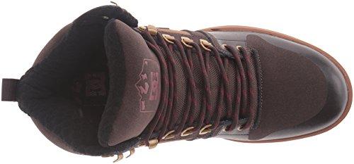 DC Men's Spartan High WR Boot Skate Shoe Brown/Brown/Red best sale cheap online Amyu9ss4