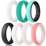 Egnaro Silicone Wedding Ring for Women, Inner Arc