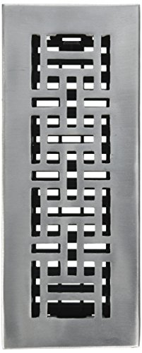 Decor Grates AJA310-NKL 3-Inch by 10-Inch Oriental Aluminum Nickel Floor Register