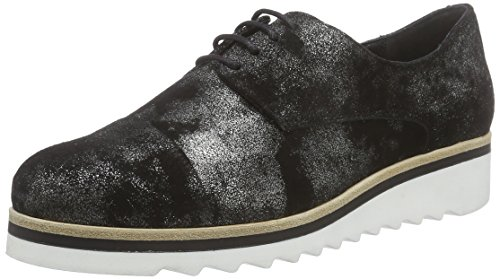 Manas Maratea - Zapatos de cordones derby Mujer Negro - Schwarz (NERO+NERO)