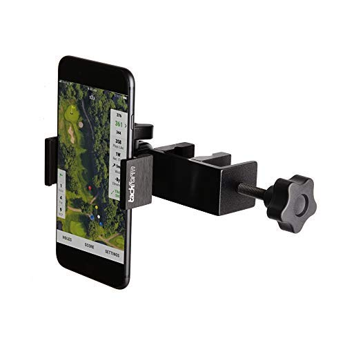 Enduro Golf Cart Mount for Phone - TACKFORM [Enduro Series] - Rock Solid All-Metal Holder for Regular and Plus Sized iPhone, Samsung and Other Devices. Industrial Spring Grip