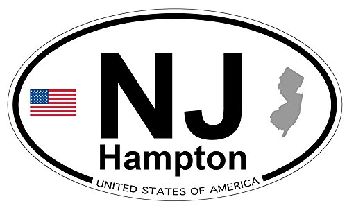 Hampton, New Jersey Oval Magnet