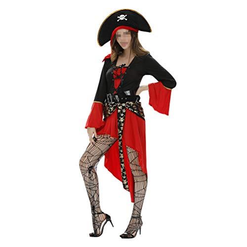 Captain Falcon Brawl Costumes - Amosfun Women California Costumes Pirate Captain