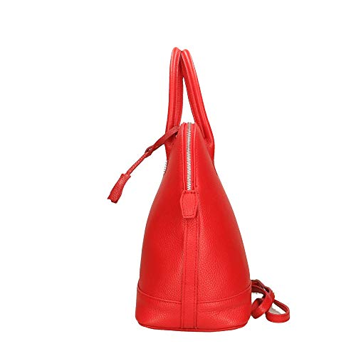 En Main Cuir Italy Sac Véritable À Cm Chicca Borse Made In 40x30x15 Rouge wxCqItHpX