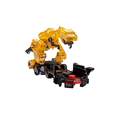 Screechers Wild - US683121 Level 2 V-Wrex Flipping Morphing Toy Vehicle , Yellow, 4'' x 2'': Toys & Games