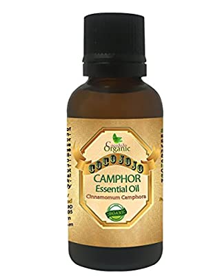 CAMPHOR ESSENTIAL OIL 1 OZ Organic Therapeutic Grade A Wellness Relaxation 100% Pure Undiluted Steam Distilled Natural Aroma Premium Quality Aromatherapy diffuser Skin Hair Body Massage By CocoJojo
