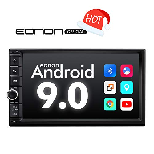 Car Stereo,Double Din Car Stereo with Bluetooth 5.0, Eonon7 Inch Android 9.0 Car Radio Support Android Auto/Apple Carplay/WiFi/Fast Boot/Backup Camera/OBDII- (NO DVD/CD)- GA2176 (Best Offline Maps For Android)