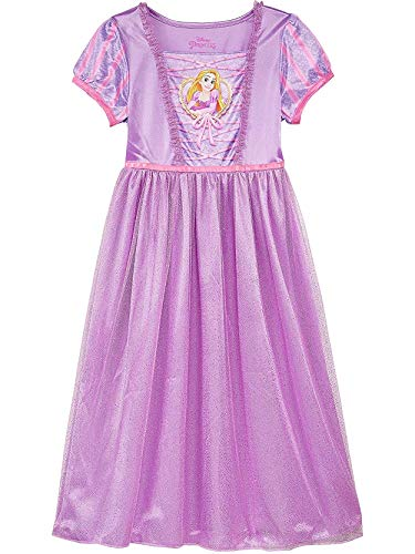 (Disney Princess Rapunzel Tangled Girl's Fantasy Gown Nightgown Pajamas (4, Purple/Multi) )