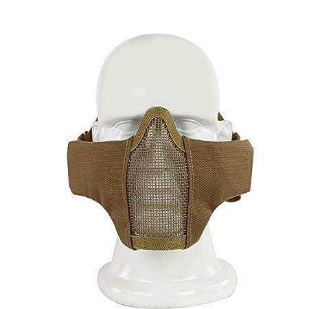 Haoyk maschera di rete pieghevole a met/à viso regolabile tattica comoda stile militare protettiva