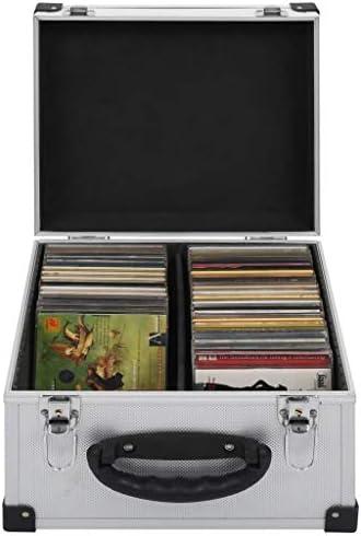 Festnight Estuche Porta CD Maletín para 40 CD Aluminio y ABS Plateado 29,5 x 29,5 x 18,5 cm: Amazon.es: Hogar