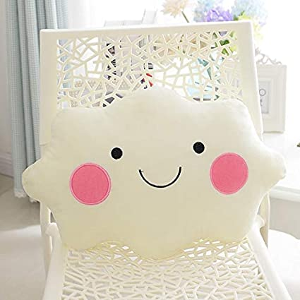 YOUHA 35cm Kawaii Soft Smiley Face Bow Nube Almohada Algodón ...