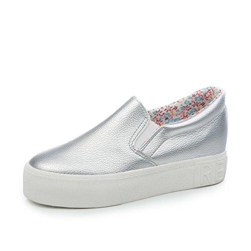 Pastel de verano con el extremo grueso de Lok Fu zapatos/Micro fibra un pedal estudiantes plana casual zapatos A