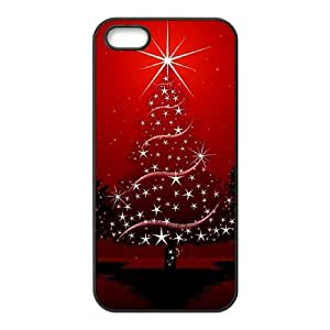 Iphone 5,5S 2D DIY Phone Back Case with Christmas tree Image