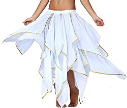 Sequin Chiffon Skirt for Women
