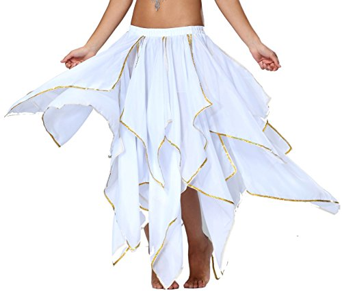 Seawhisper Renaissance Skirt Renaissance Costumes Women Faire Fair Fairy Halloween Costume White ()