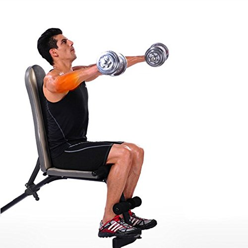 Rhegeneshop Home Fitness Gym Workout Strength Dumbbell Bench Chair With Pulling Rope by Rhegeneshop