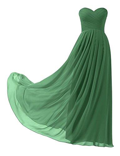 Ball Emerald Lange Trägerlos Abschlusskleid Abiball Abendkleider Brautjungfernkleider Chiffon 139 Elegant qXxFUwga