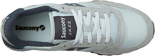 Sneaker Saucony Jazz in suede e nylon grigio chiaro, Grey/Slate, 40.5
