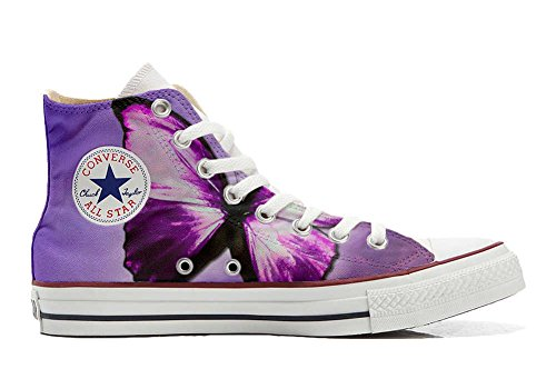 Converse Customized Adulte - chaussures coutume (produit artisanal) papillon