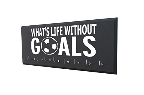- Running On The Wall Soccer Medal Holder - What's Life Without Goals - Display All Awards, Medals, Ribbons Trophy Soccer Player Soccer Coach - Soccer Gift