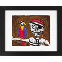 Pirate - Tropical Beach House Picture Ocean Shore Framed Art Print
