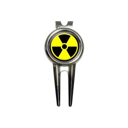 Radioactive Nuclear Warning Symbol Golf Divot Repair Tool and Ball Marker