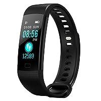 zoeson Fitness Tracker - Reloj Inteligente Deportivo, Impermeable, Podómetro, Monitor de Actividad, Monitor de Sueño, Monitor de Ritmo Cardíaco, Presión Arterial/Oxígeno (Negro)