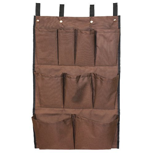 (American Supply 9 Pockets Cart Caddy Bag, Brown)