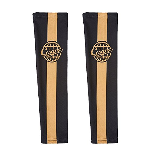 Cesaro Section Black Gold Arm Sleeves Set of 2 WWE Authentic by WWE Authentic