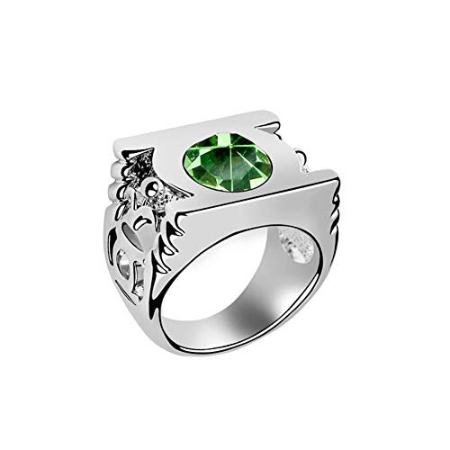 Cosparts® Green Lantern High Quality Alloy Ring Cosplay Costume (Size 10(Diameter 19.8mm)) -