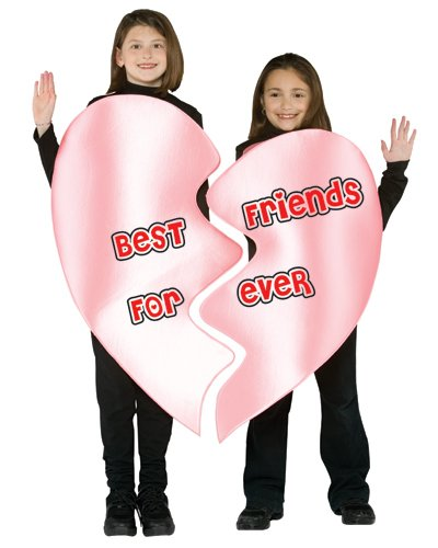Best Friends Forever Heart Child Costume - One Size (Friends Costumes)
