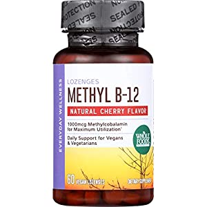 Whole Foods Market, Methyl B-12 Lozenges 1000mcg, Cherry Flavor, 60 ct