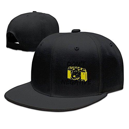 MaNeg Don't Be Negative Unisex Fashion Cool Adjustable Snapback Baseball Cap Hat One Size Black