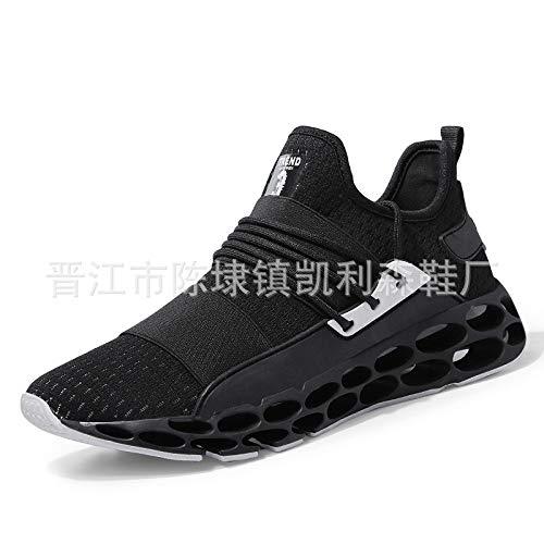 Hasag Calzado Deportivo Novedades Zapatillas para Correr con amortiguación Zapatillas Deportivas Transpirables E black